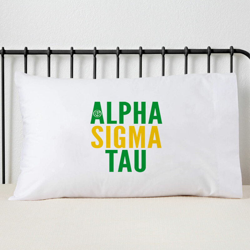 Alpha Sigma Tau Name Stack Pillow Cover