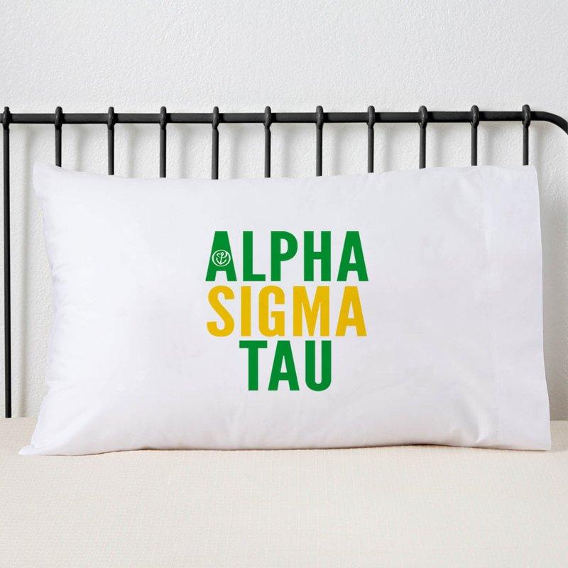 Alpha Sigma Tau Name Stack Pillow Cover
