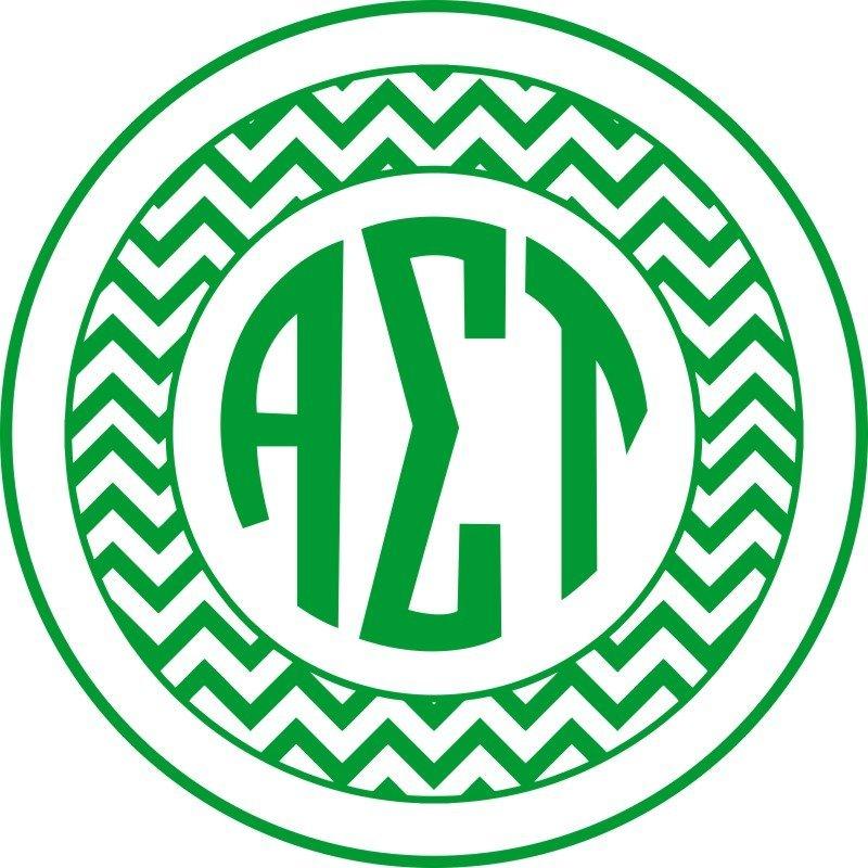 Alpha Sigma Tau Sorority Monogram Bumper Sticker