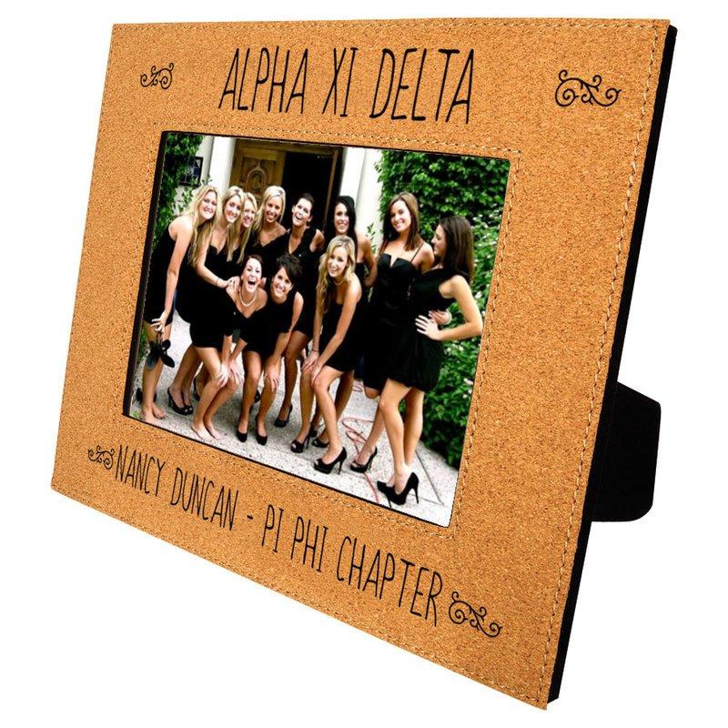 Alpha Xi Delta Cork Photo Frame