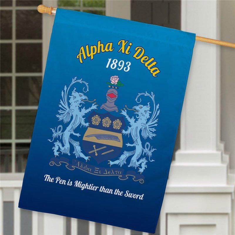 Alpha Xi Delta House Flag