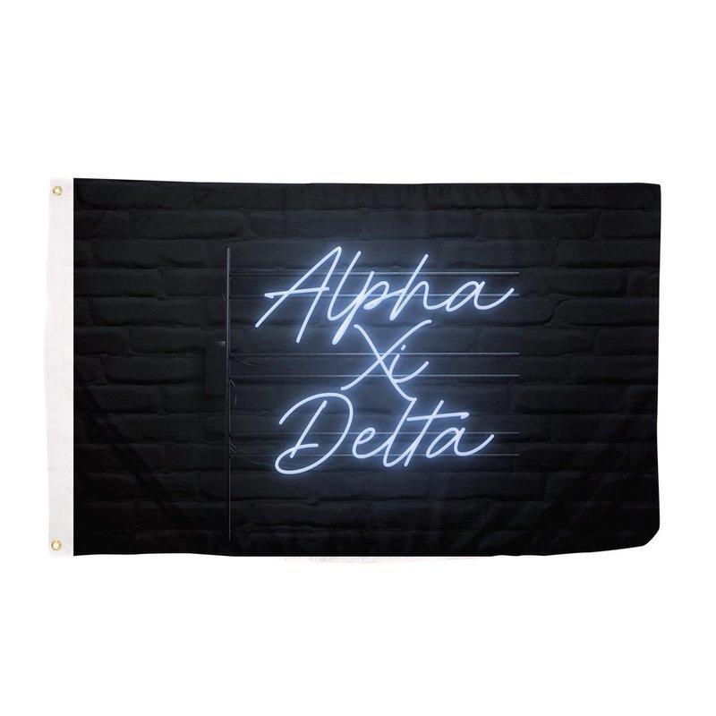 Alpha Xi Delta Neon Flag