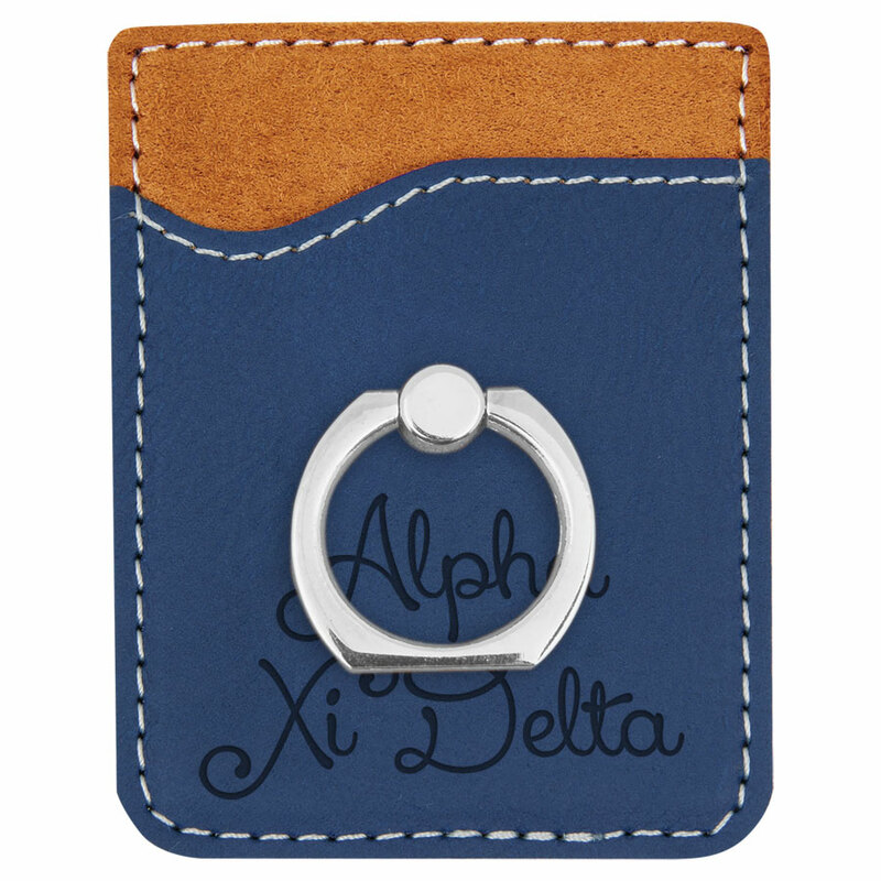 Alpha Xi Delta Phone Wallet with Ring