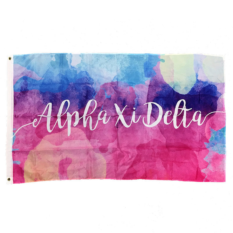 Alpha Xi Delta Watercolor Sorority Flag