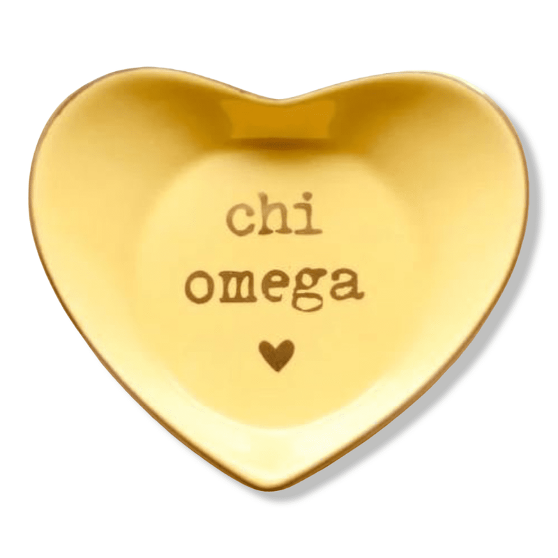 Chi Omega Ceramic Ring Dish