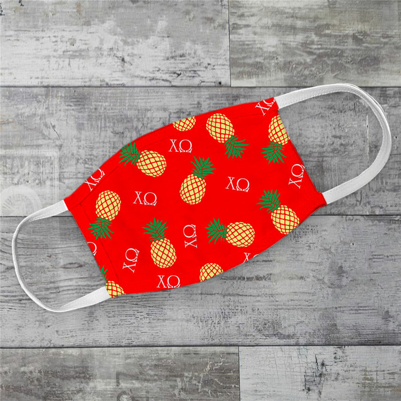 Chi Omega Pineapples Face Mask