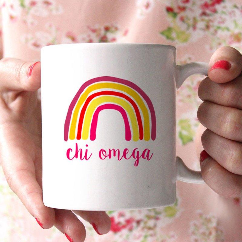 Chi Omega Rainbow Coffee Mug