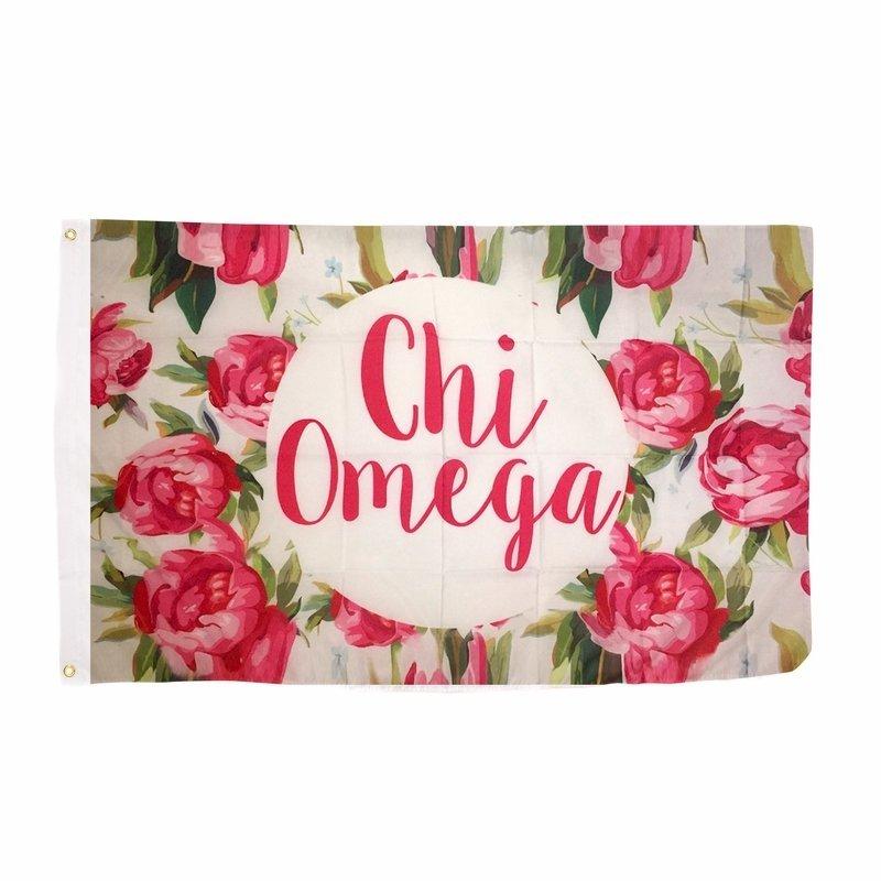 Chi Omega Rose Flag