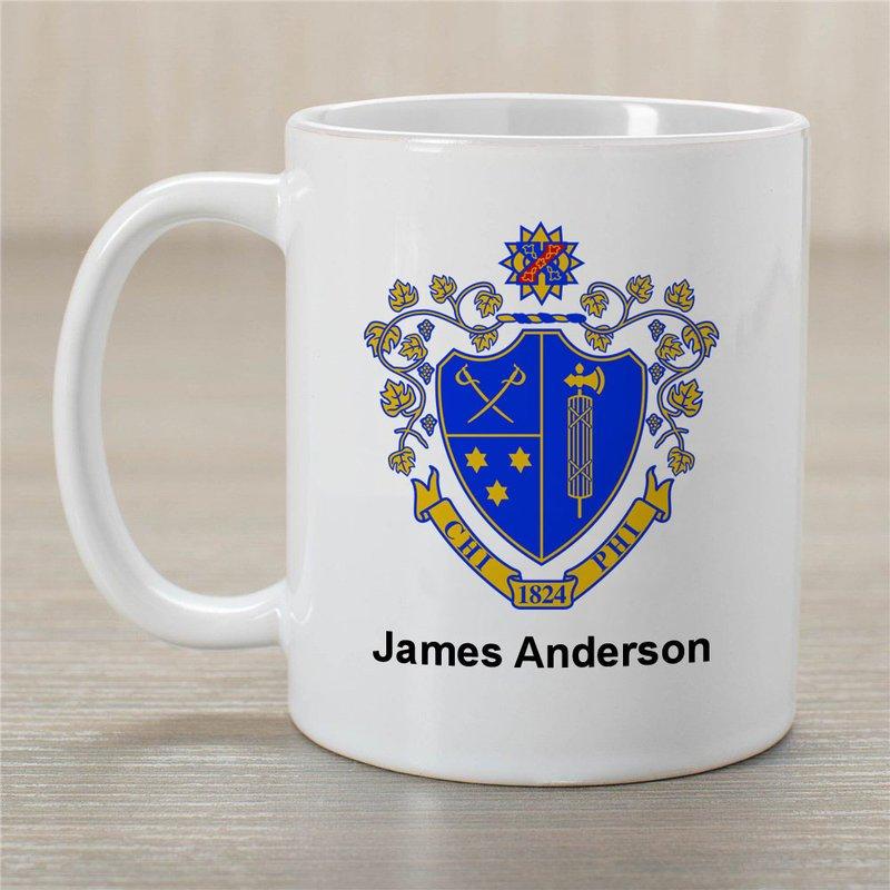 Chi Phi Greek Crest Coffee Mug - Personalized!