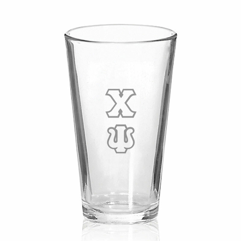 Chi Psi Big Letter Mixing Glass