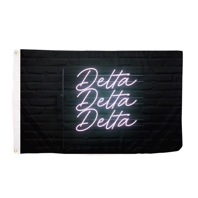 Delta Delta Delta Neon Flag