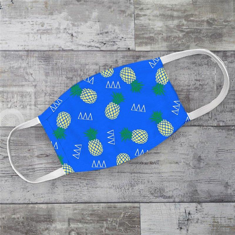 Delta Delta Delta Pineapples Face Mask