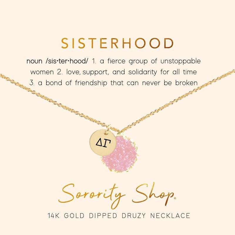 Delta Gamma Sisterhood Druzy Necklace
