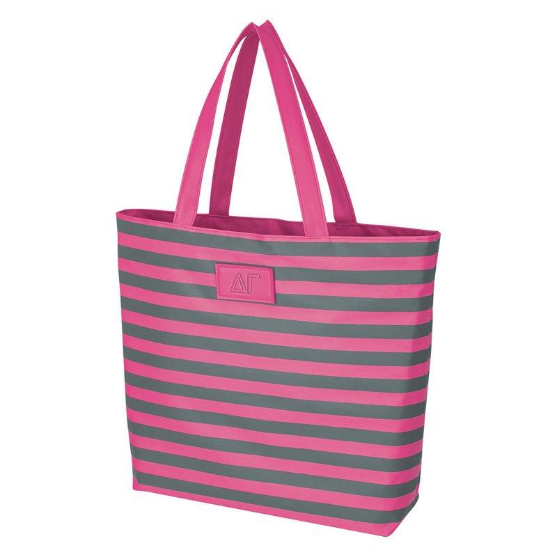 Delta Gamma Stripes Tote Bag