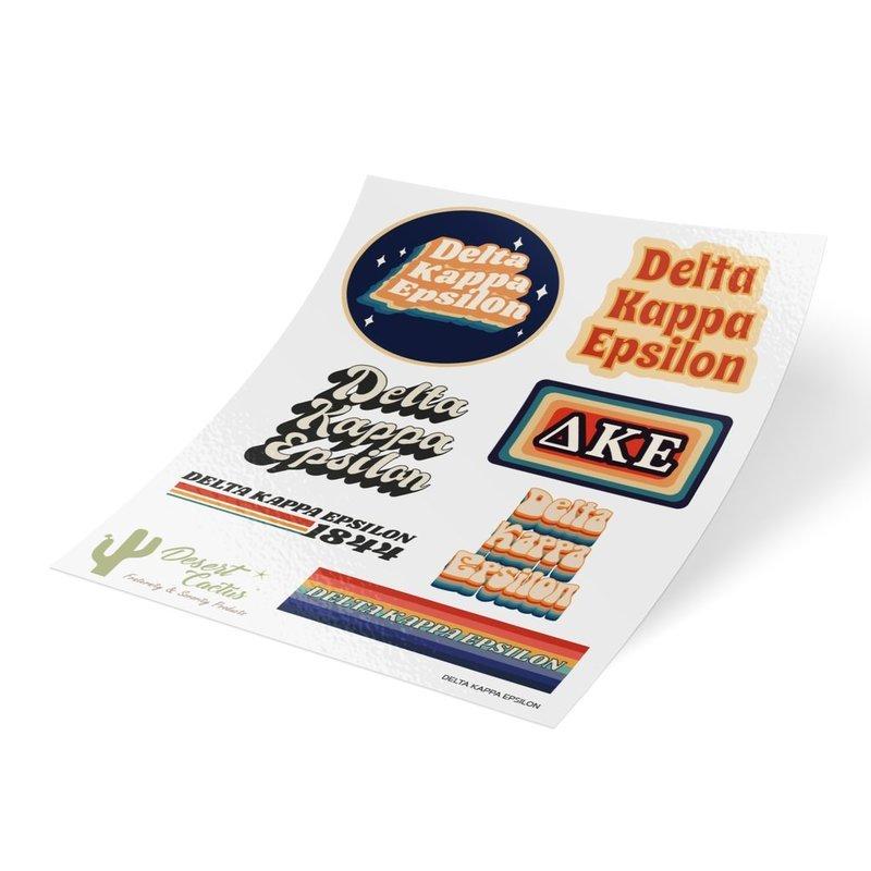 Delta Kappa Epsilon 70's Sticker Sheet