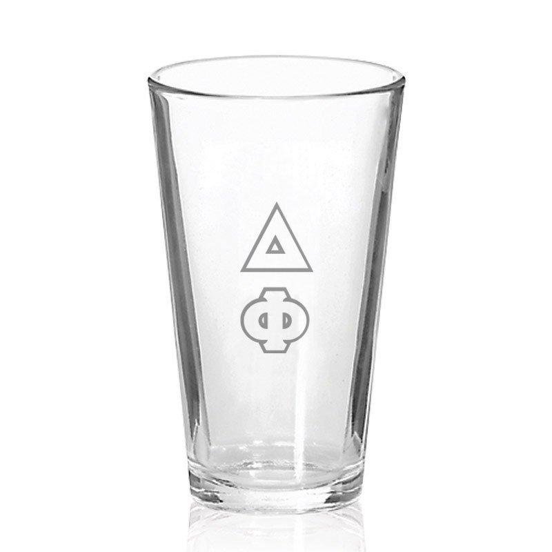Delta Phi Big Letter Mixing Glass