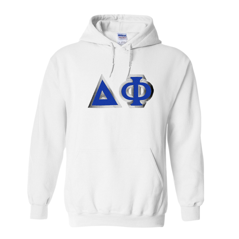 Delta Phi Custom Twill Hooded Sweatshirt