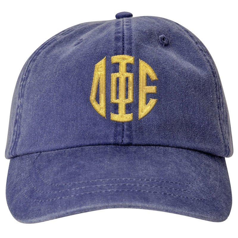 Delta Phi Epsilon Lettered Monogram Premium Pastel Hat SALE  24.95. - Greek  Gear® f24ee455604