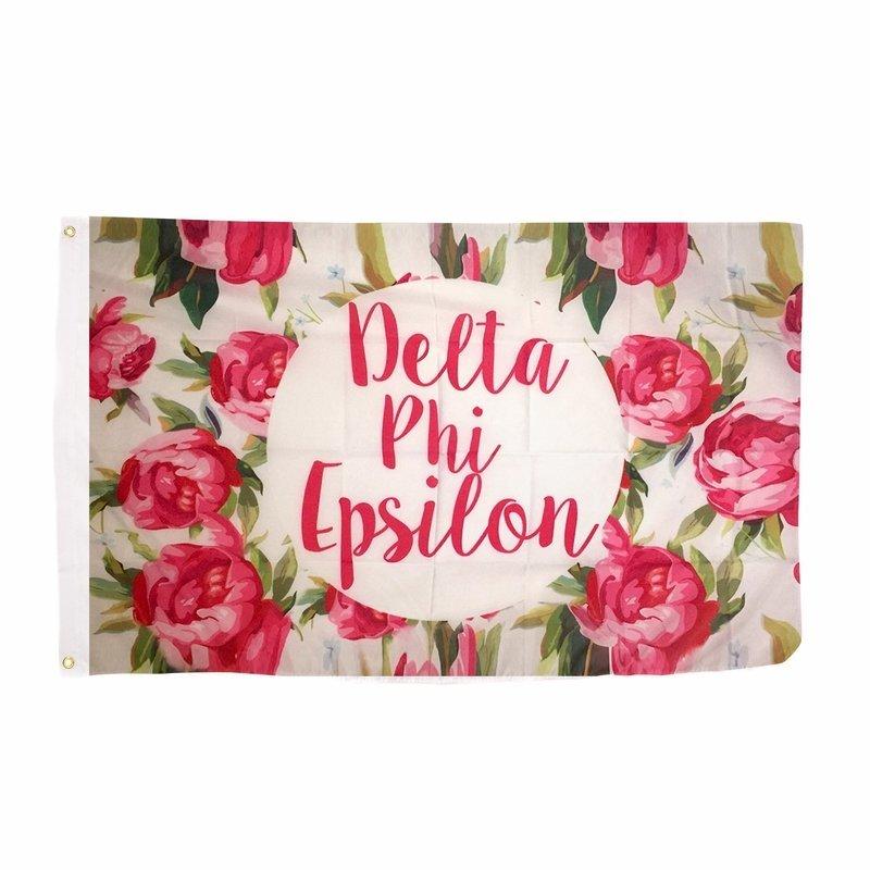Delta Phi Epsilon Rose Flag