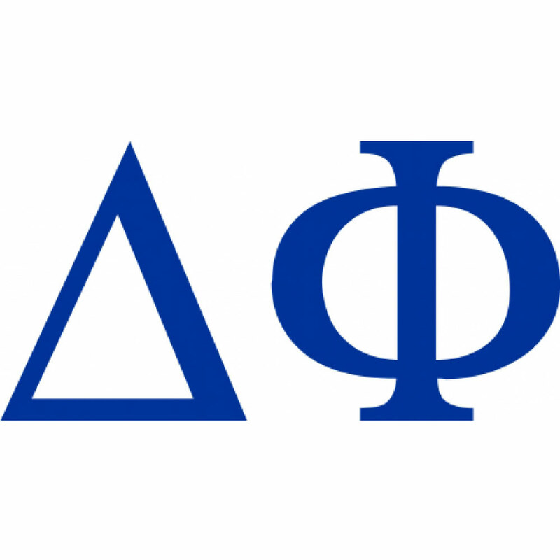 Delta Phi Greek Letter Window Sticker Decal