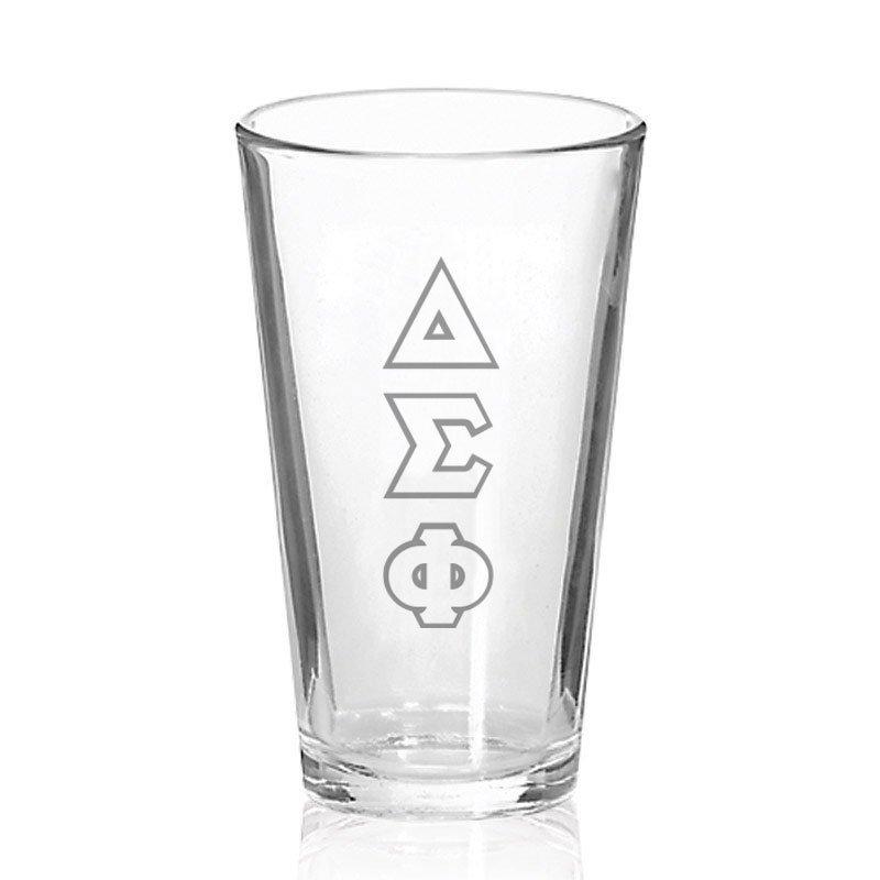 Delta Sigma Phi Big Letter Mixing Glass