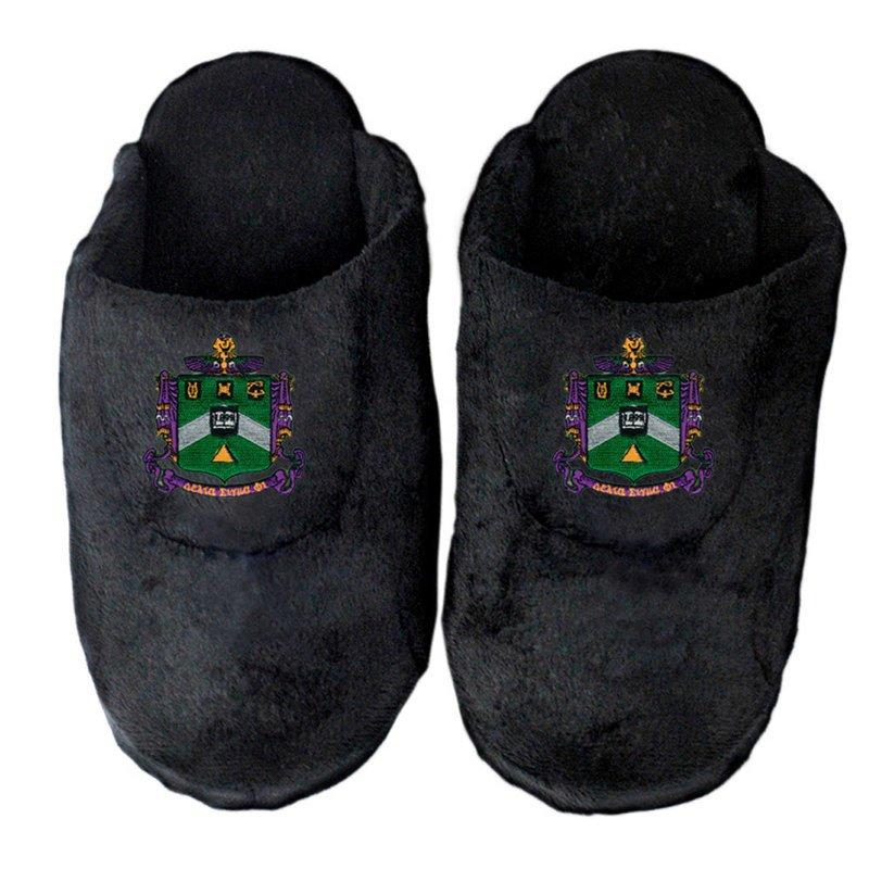 DISCOUNT-Delta Sigma Phi Crest - Shield Slippers