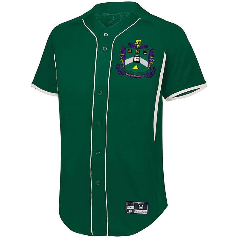 Delta Sigma Phi Game 7 Full-Button Baseball Jersey
