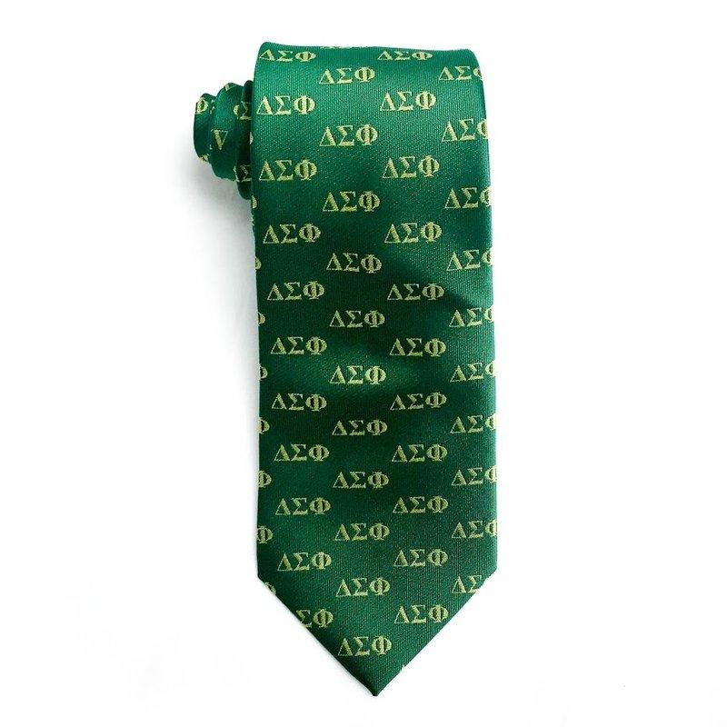 Delta Sigma Phi Lettered Woven Necktie