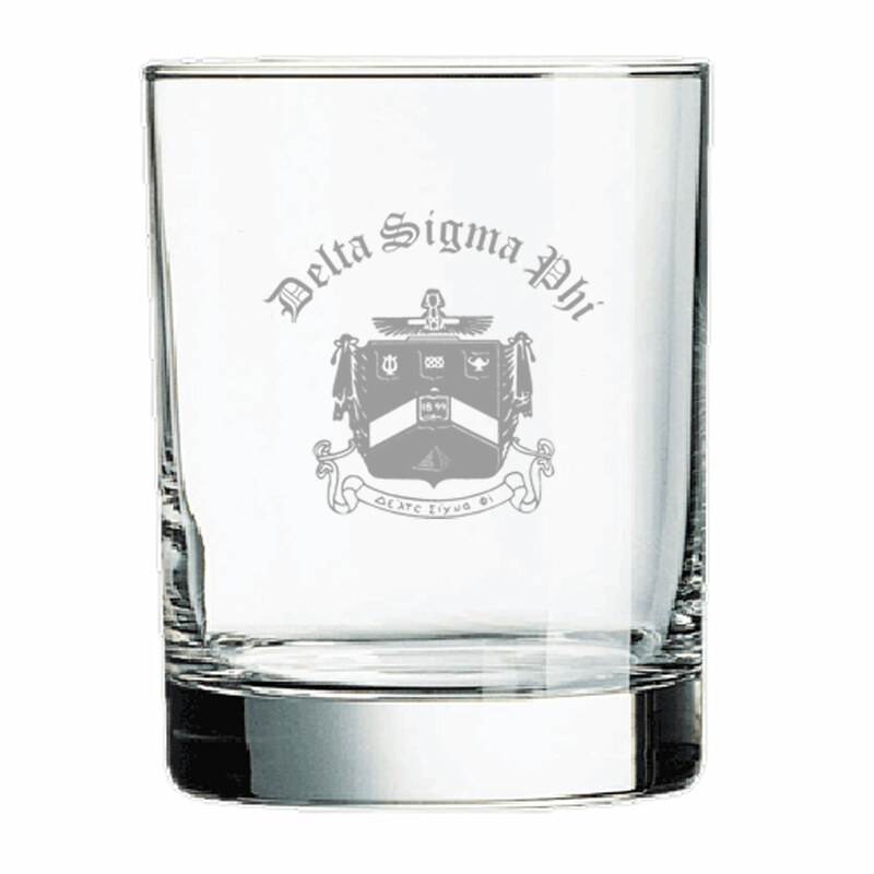Delta Sigma Phi Old Style Glass