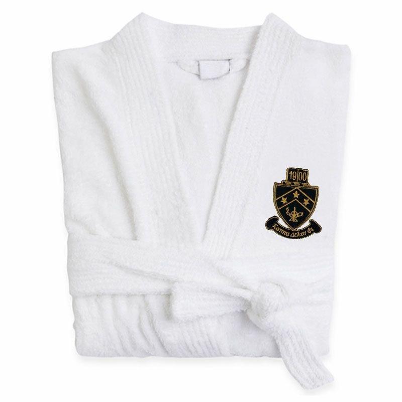 DISCOUNT-Kappa Delta Phi Crest - Shield Bathrobe