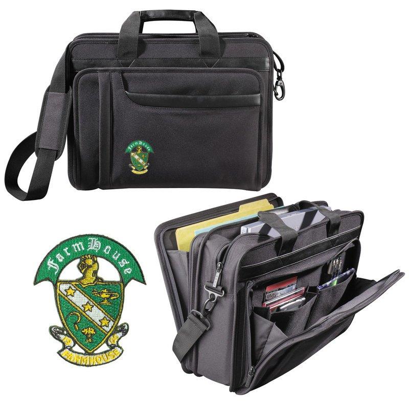 DISCOUNT-FarmHouse Fraternity Crest - Shield Briefcase Attache