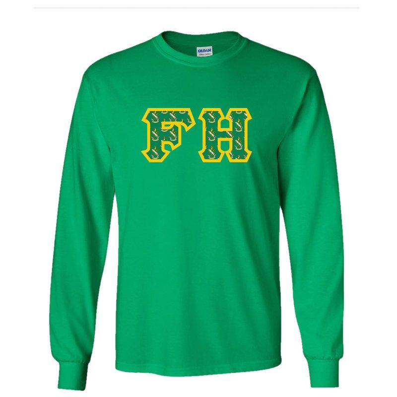 FARMHOUSE Fraternity Crest - Shield Twill Letter Longsleeve Tee