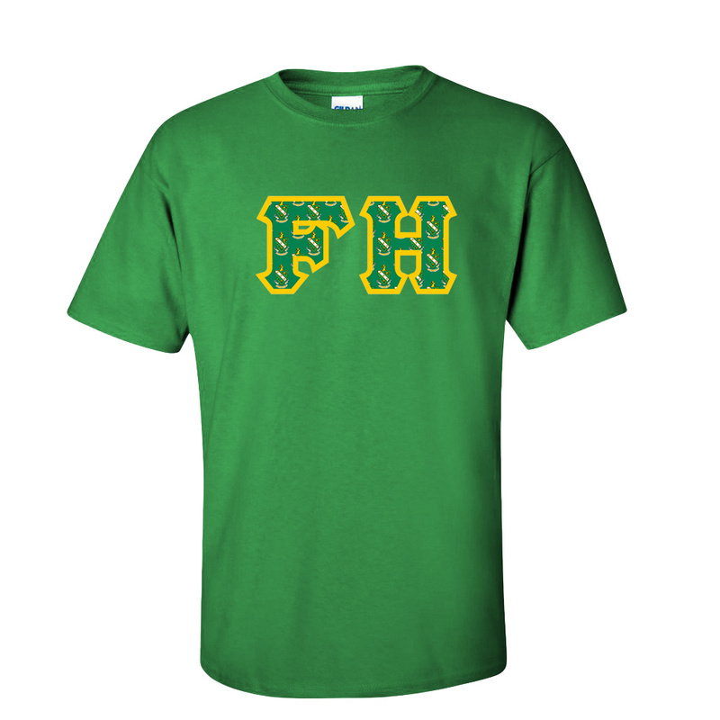 FARMHOUSE Fraternity Crest - Shield Twill Letter Tee