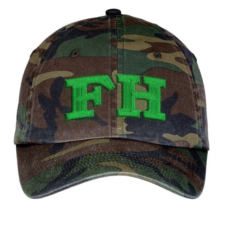 FarmHouse Fraternity Lettered Camouflage Hat