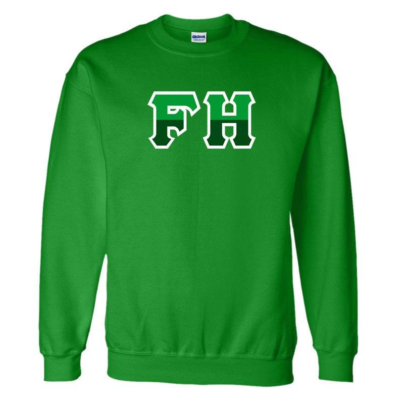 FarmHouse Fraternity Two Tone Greek Lettered Crewneck Sweatshirt