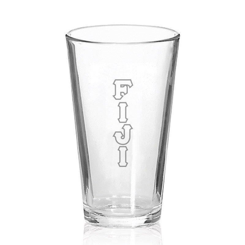 FIJI Fraternity Big Letter Mixing Glass