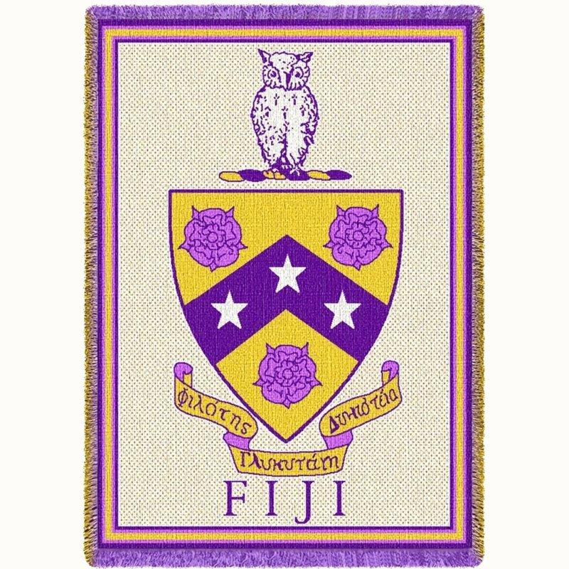 FIJI Fraternity - Phi Gamma Delta Afghan Blanket Throw