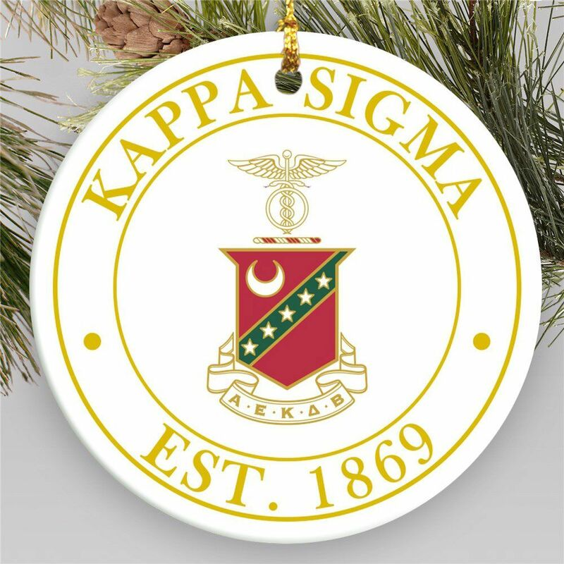 Fraternity Circle Crest Round Christmas Ornament