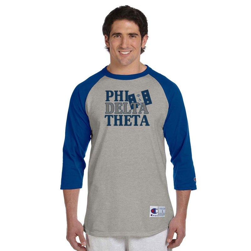 Fraternity Flag Champion® Raglan T-Shirt