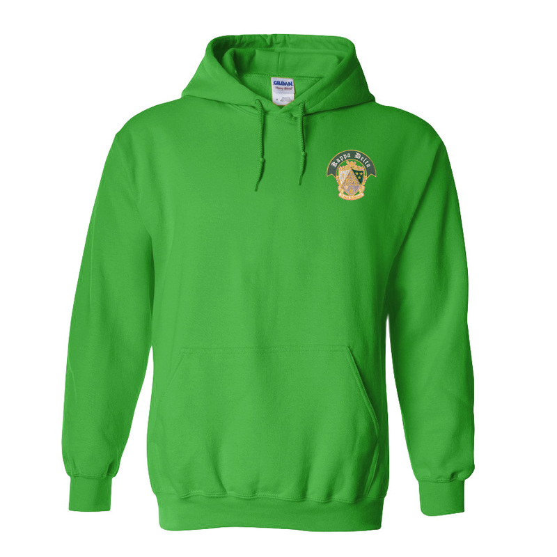 DISCOUNT-Fraternity & Sorority Greek Crest - Shield Emblem Hooded Sweatshirt