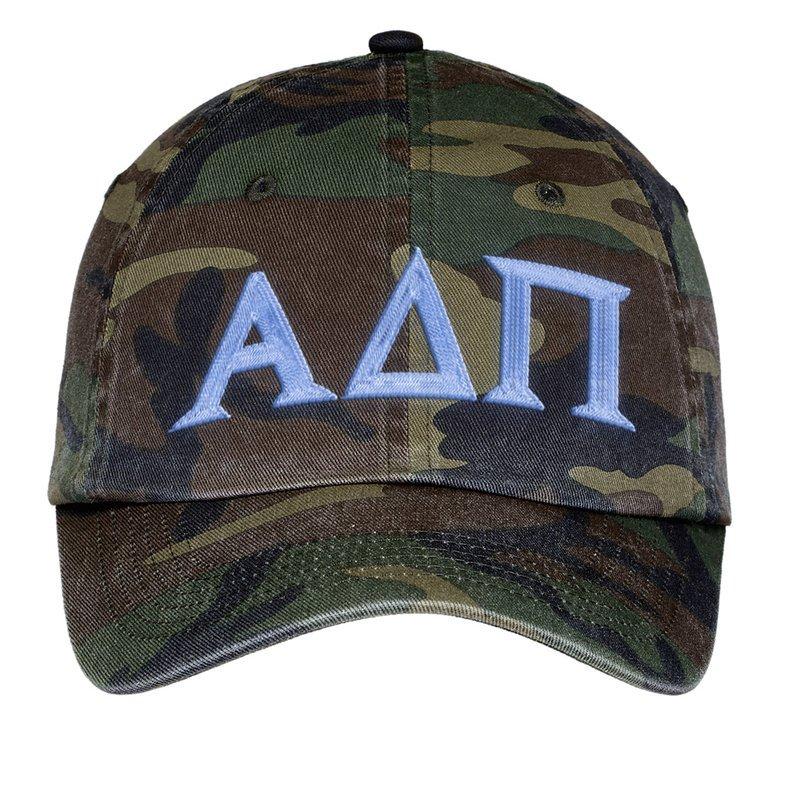 994515118f5 Fraternity   Sorority Lettered Camouflage Hat - Greek Gear