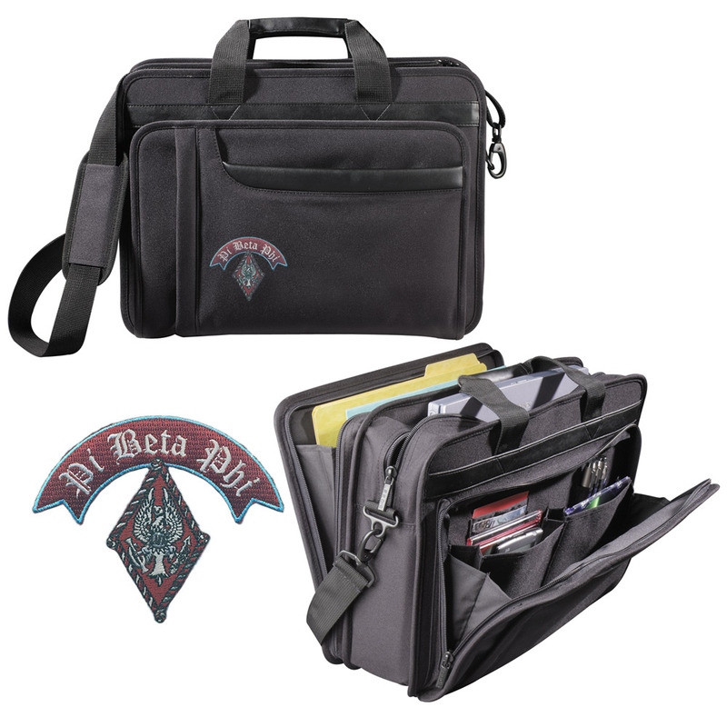 DISCOUNT-Greek Crest - Shield Briefcase Attache