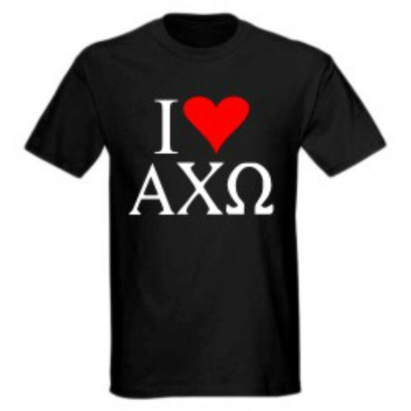 I Love Alpha Chi Omega T-Shirts