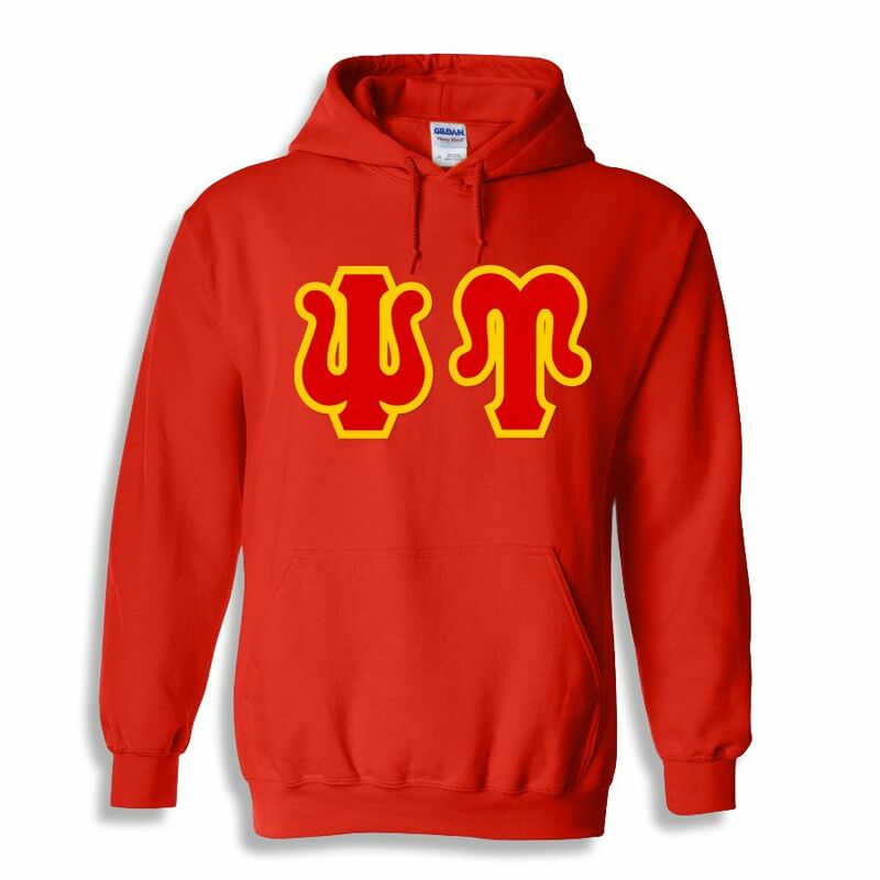Jumbo Twill Psi Upsilon Hooded Sweatshirt
