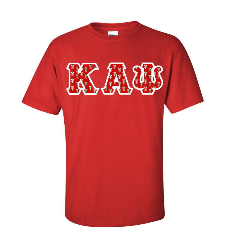 Kappa Alpha Psi Fraternity Crest - Shield Twill Letter Tee