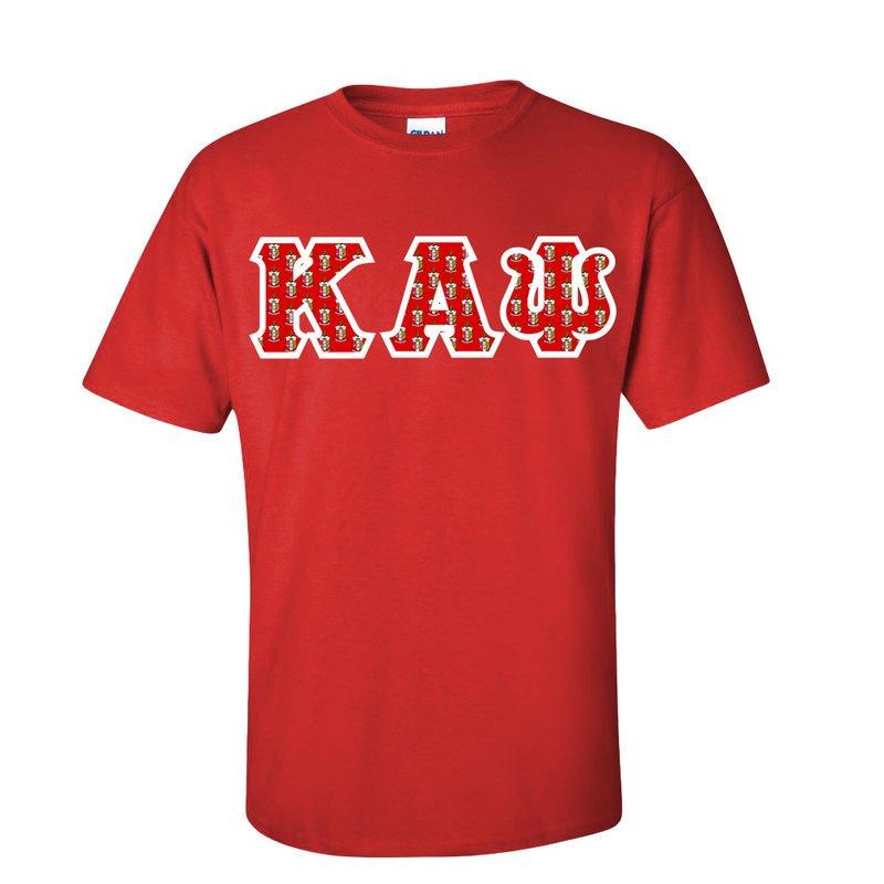 Kappa Alpha Psi Fraternity Crest - Shield Twill Letter Tee