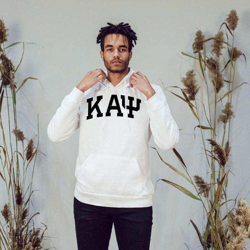 Kappa Alpha Psi Greek Lettered Arch Hooded Sweatshirt