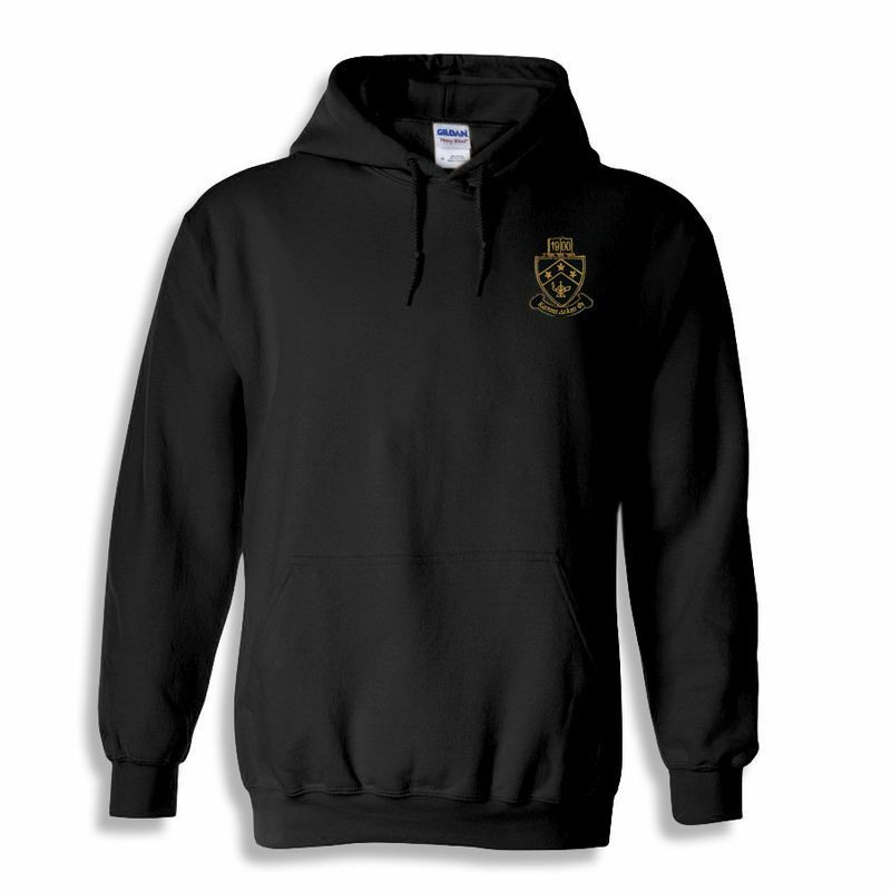 DISCOUNT-Kappa Delta Phi Crest - Shield Emblem Hooded Sweatshirt