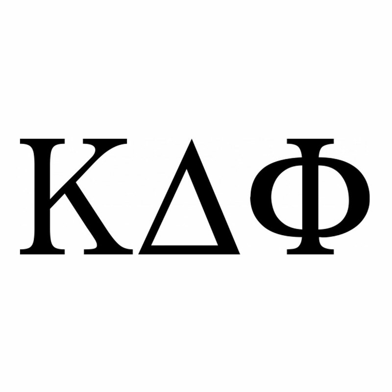 Kappa Delta Phi Greek Letter Window Sticker Decal