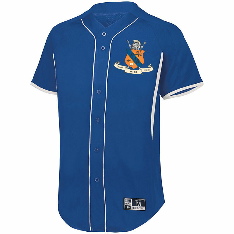 Kappa Delta Rho Game 7 Full-Button Baseball Jersey